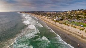 Del Mar, Californië van hierboven royalty-vrije stock afbeeldingen