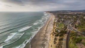 Del Mar, Californië van hierboven royalty-vrije stock fotografie