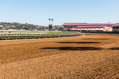 Del Mar Dirt Race Track and Horse Barns Stock Images