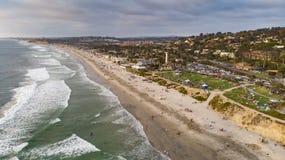 Del Mar Kalifornien från över royaltyfria foton