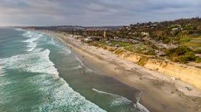 Del Mar Kalifornien från över royaltyfri fotografi