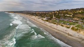 Del Mar, Kalifornien von oben lizenzfreies stockfoto