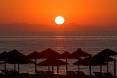 del mar rano piękna Hiszpanii roquetas wschód słońca zdjęcie stock