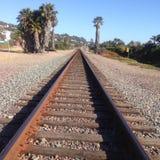 Del Mar Train Tracks. San Diego Fairgrounds royalty free stock photos