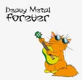Del metallo pesante gatto per sempre in metallo pesante illustrazione di stock