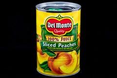 Del Monte Canned Fruit och varumärkeslogo arkivfoton
