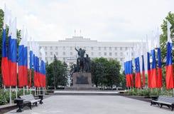 ` Del monumento in primo luogo del ` dei cavallerizzi - scultore E Vucetich Fotografia Stock Libera da Diritti