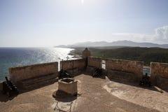 Del Morro Castillo de San Pedro de Ла Roca в Сантьяго-де-Куба - Кубе Стоковое Изображение