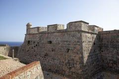Del Morro Castillo de San Pedro de Ла Roca в Сантьяго-де-Куба - Кубе Стоковые Фотографии RF