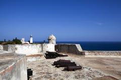 Del Morro Castillo de San Pedro de Ла Roca в Сантьяго-де-Куба - Кубе Стоковое Изображение RF