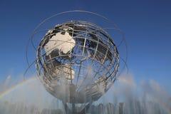 ` 1964 del mundo de Nueva York s Unisphere justo en el parque de Flushing Meadows imagenes de archivo