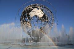 ` 1964 del mundo de Nueva York s Unisphere justo en el parque de Flushing Meadows fotografía de archivo libre de regalías