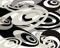 Del negro fondo swirly Foto de archivo