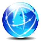 Del norte, del sur, y America Central, planeta D de la comunicación global Imagen de archivo