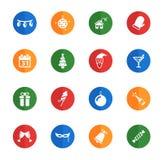Del nuovo anno icone semplicemente Fotografie Stock Libere da Diritti