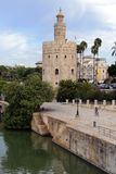 del oro塞维利亚西班牙torre 库存照片