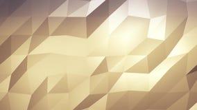 Del oro fondo abstracto polivinílico bajo Inconsútil loopable ilustración del vector