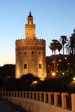 del oro seville spain torre Royaltyfri Bild