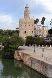 del Oro w sewilli torre Hiszpanii zdjęcia stock