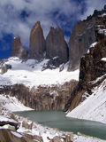 del paine fait une pointe des torres photo stock
