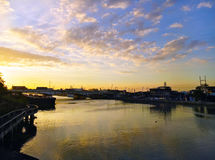 Del Pan γέφυρα και ποταμός Pasig Στοκ φωτογραφία με δικαίωμα ελεύθερης χρήσης