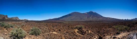 del panorama pico teide 库存照片