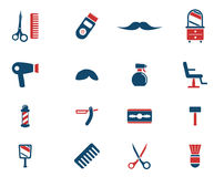 Del parrucchiere icone semplicemente Immagine Stock