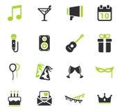 Del partido iconos simplemente Imagenes de archivo