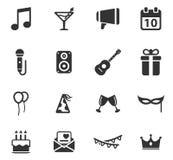 Del partido iconos simplemente Imagen de archivo libre de regalías