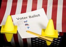 Del partito dell'elettore del voto coni affiliati con prudenza Fotografia Stock