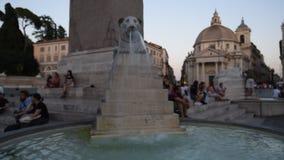 del piazza popolo罗马 股票录像