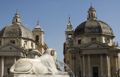 del piazza popolo Ρώμη Στοκ εικόνα με δικαίωμα ελεύθερης χρήσης