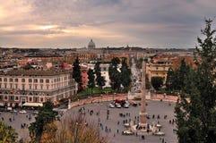 del piazza popolo rome Royaltyfri Fotografi