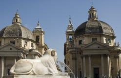del piazza popolo rome Royaltyfri Bild