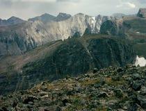Del pico de Hallett en Front Range, divisoria continental, Rocky Mountain National Park, Colorado Imagenes de archivo
