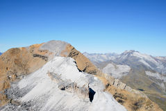 Del pico de Le Casque en Gavarnie en Francia Foto de archivo