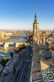 Del Pilar Cathedral de Basilica de Nuestra Señora en Zaragoza, España imágenes de archivo libres de regalías