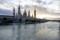 Del Pilar de BasÃlica de Nuestra Señora à Saragosse, Espagne Image libre de droits