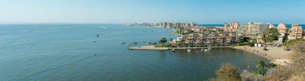 Del Pino Panorama - La Manga del Mar Menor de Cala Foto de archivo libre de regalías