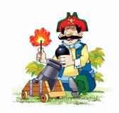 Del pirata del ladro partita del cappello del nocciolo giù Immagine Stock
