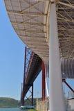 25 del ponte di aprile a Lisbona, il Portogallo Fotografie Stock Libere da Diritti