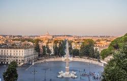 del popolo Ρώμη πλατειών της Ιταλία&sigm Στοκ φωτογραφίες με δικαίωμα ελεύθερης χρήσης