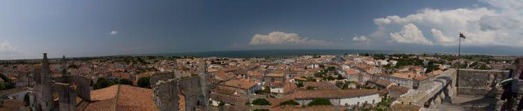 Del porto di panorama San-Martin-de-ri Ile isola della Francia Immagine Stock Libera da Diritti