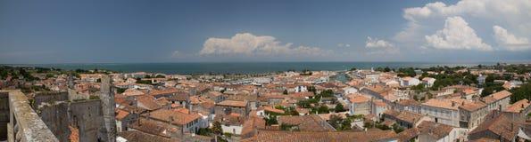 Del porto di panorama San-Martin-de-ri Ile isola della Francia Fotografia Stock Libera da Diritti