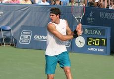Del Potro: De Backhand van de Speler van het tennis Stock Foto's
