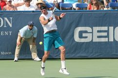 Del Potro: Tennis Player Forehand Royalty Free Stock Photo