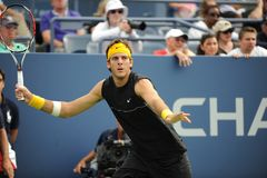 Del Potro at US Open 2009 (22). Del Potro (ARG) is one of the favourites of US Open 2009 Royalty Free Stock Image