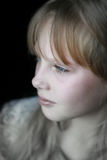Del primer del retrato chica joven cuidadosamente Foto de archivo libre de regalías