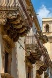 Del Principe di Villadorata de Nicolaci del palacio en Noto, Sicilia Imagen de archivo