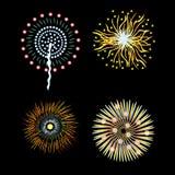 Del 4 quarto dei fuochi d'artificio luglio del llustration dei fuochi d'artificio di luglio per festa celebrazione festa dell'ind illustrazione vettoriale